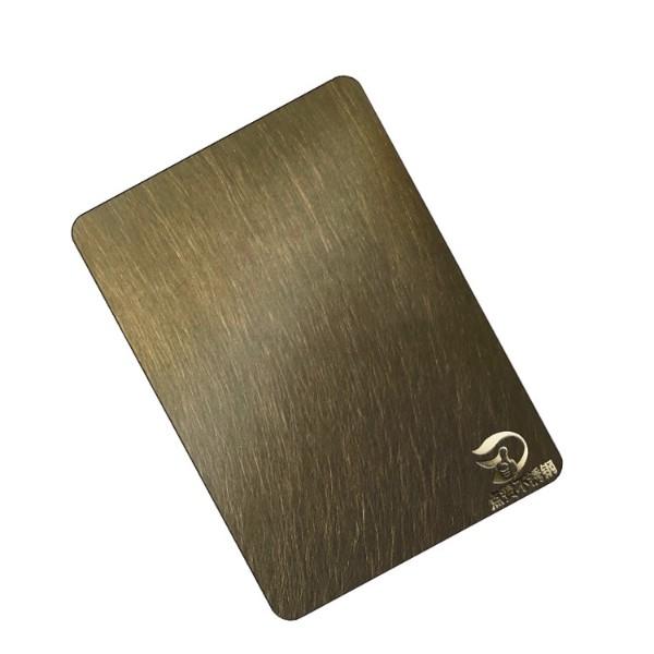 青古铜不锈钢乱纹拉丝板