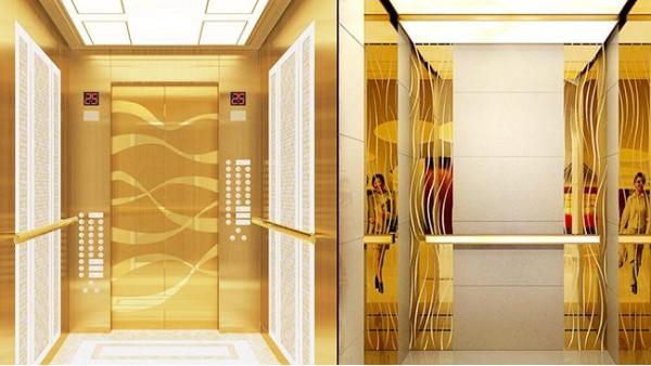 不锈钢蚀刻板在电梯上使用是什么样?