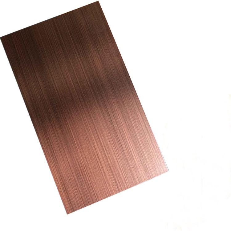 红古铜拉丝不锈钢装饰板
