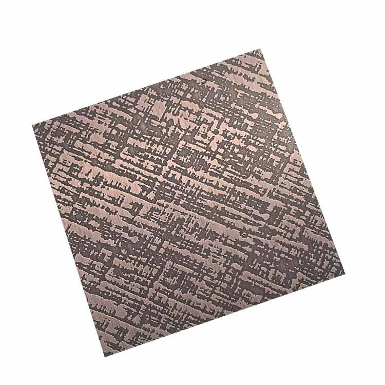蚀刻纳米布纹红古铜