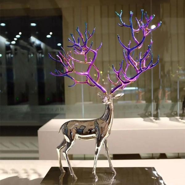 不锈钢彩色鹿