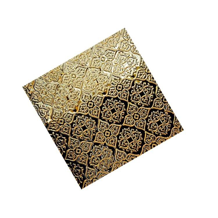 黄金色不锈钢花纹