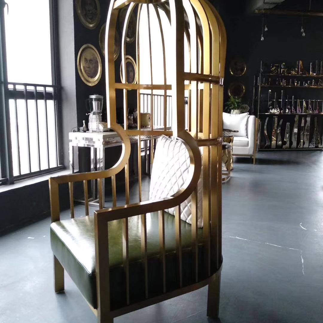 不锈钢靠椅